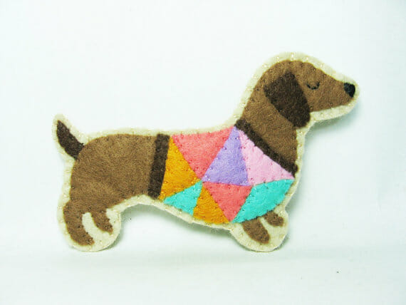 Hanaletters' Conceited Dachshund Felt Badge