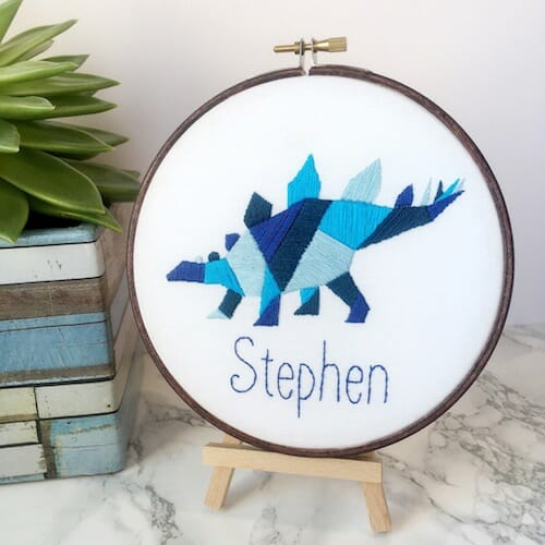 Hatchling Makes - Personalised Dinosaur Hoop