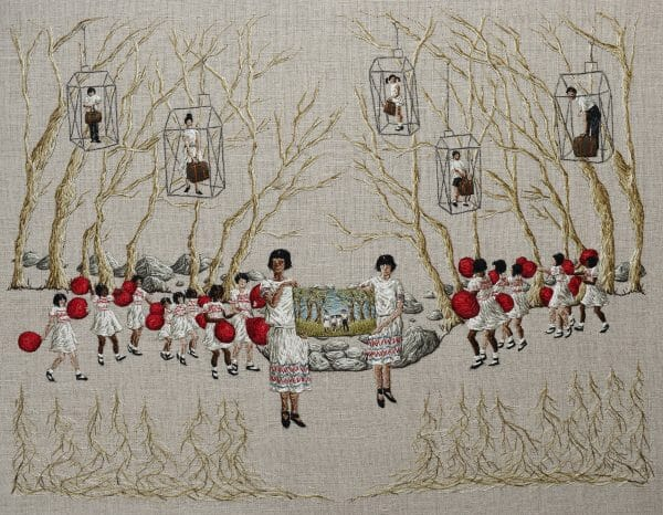 Michelle Kingdom - As Plain As Day (2017) - Hand Embroidery