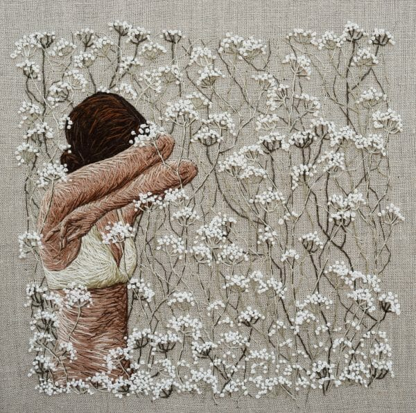 Michelle Kingdom - Even Now ...Even Sleeping (2017) – Hand Embroidery