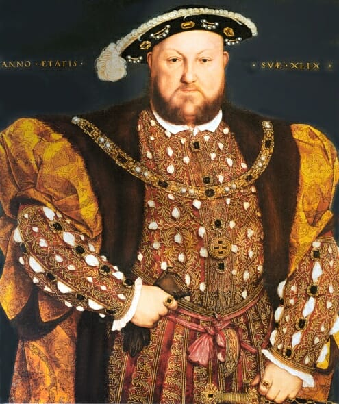 Portrait of Henry VIII Age 49, by Hans Holbein the younger circa 1540.