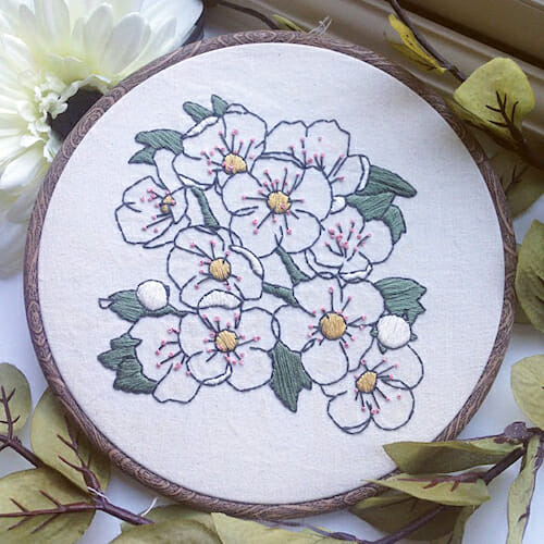 Pengelly Crafts - Apple Blossom Hoop
