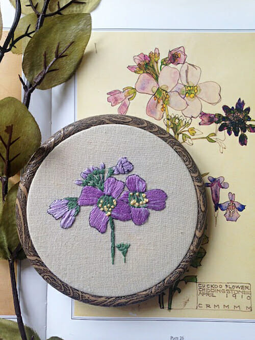 Pengelly Crafts - Purple Floral Hoop