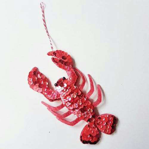 Embroidery by KG Design - Larry the Lobster Ornament