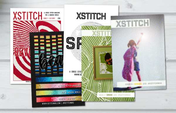 The Five Covers of the XStitch Print Issues