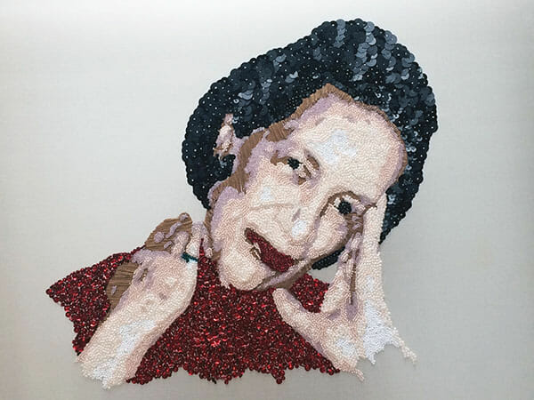 Portrait embroidery 3 by Silvia Perramon Rubio