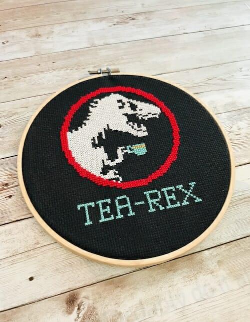 Iris Loves UK - Tea Rex Cross Stitch Kit