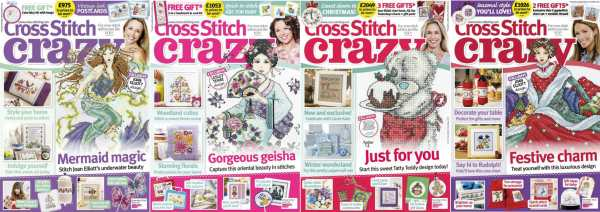 Cross Stitch Crazy covers for September to December 2014
