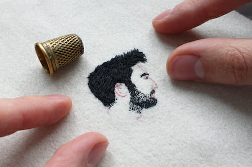 Adam Pritchett - Portrait Embroidery