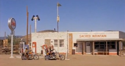 Easy Rider Route Tour Sacred Mountain Gas Station