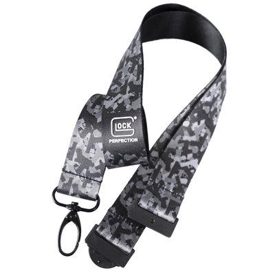 GLOCK Schlüsselband schwarz/camouflage Satin   MS - Shooting