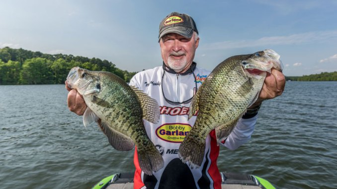 When the bite slows around brush piles, Terry Blankenship will hold his jig motionless at the same depth crappie are holding, and he can usually trigger a strike.