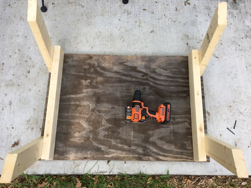 The length of the stand's legs is fully customizable to your hunting setup, and using treated lumber will enable it to last for several seasons.