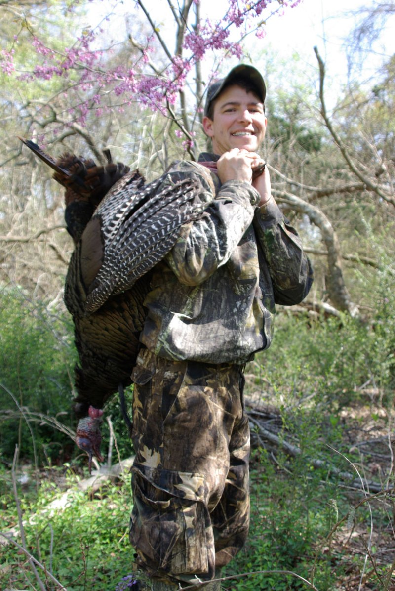 J. H. Watley took this gobbler calling sparsely on a afternoon hunt when the boss tom's harem had left him for their nests.