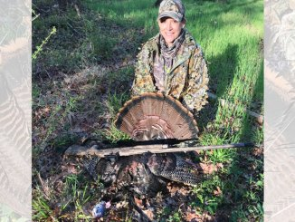Lori Kennedy got her first gobbler ever on the ground at 8:10 a.m. just a few days after the season opener.