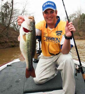 This Aliceville bass came the boat for Jim Fikes of Pickinsville, Ala.