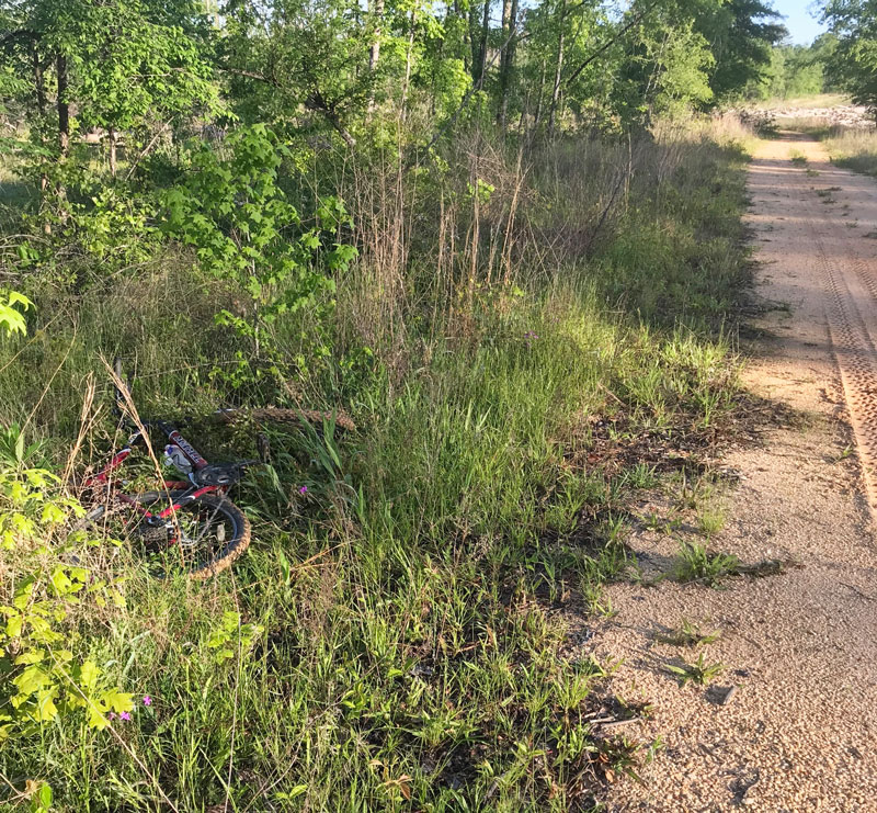 "Revel Rawlings ""ditched"" his bike when gobblers responded very close on April 22 at Bienville National Forest."