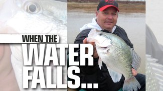 Catch winter crappie when the water is down