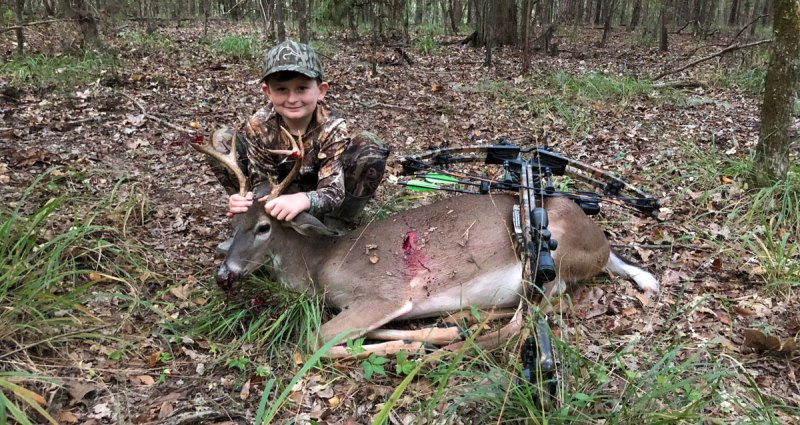 Hinds County youth Reed Courtney's season started off with a bang when harvested this nice 8-point with his crossbow on the evening of Oct. 2.