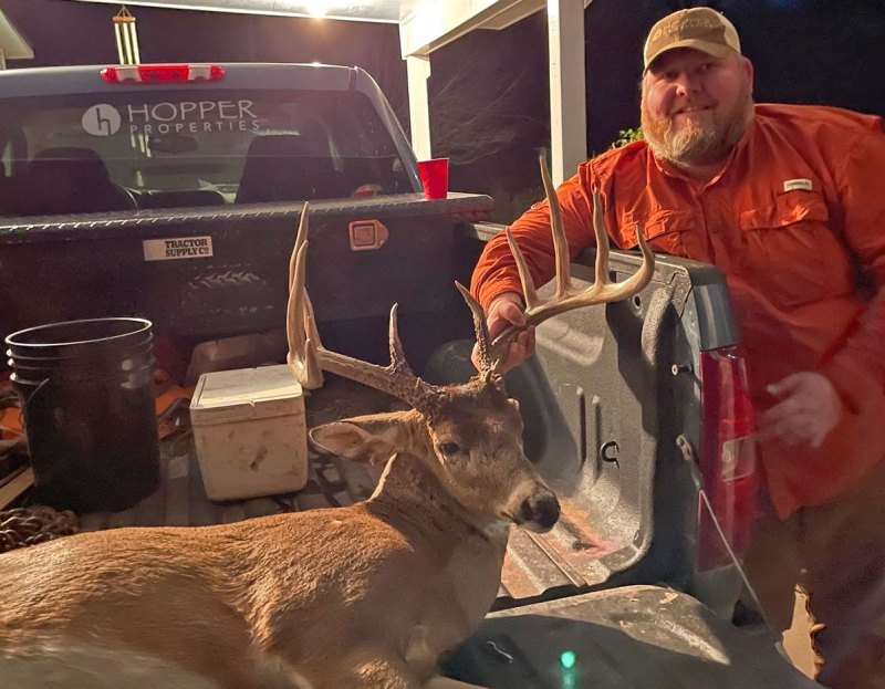 Port Gibson's Trent McCaa killed this 163-inch, 11-point Claiborne County buck on a Jan. 28 hunt from which he didn't expect much success.