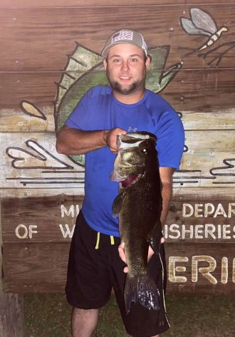 This 10.1-pound bass hit a frog bait for angler Kyle Walley of Columbia on May 23.