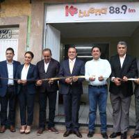 Inauguran primera estación de radio local de Quiroga