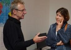LSI Wolfgang Gröpel im Gespräch mit PSI Astrid Rödlach
