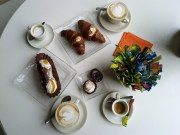 Sicilian pastry breakfast - copyright Sara Rosso