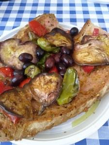 My favorite pane e pomodoro - bread and tomatoes