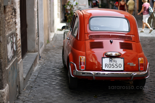 Red Fiat 500 by Sara Rosso