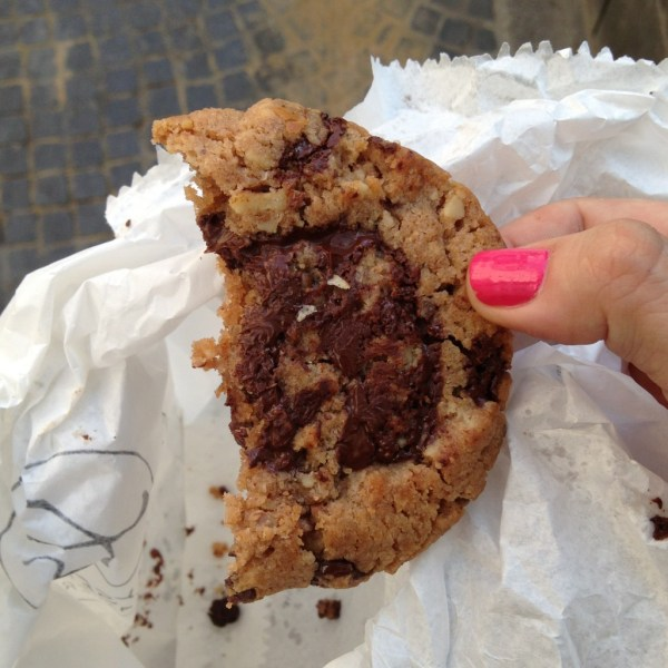 Eric Kayser chocolate chip cookie, on Ms. Adventures in Italy by Sara Rosso