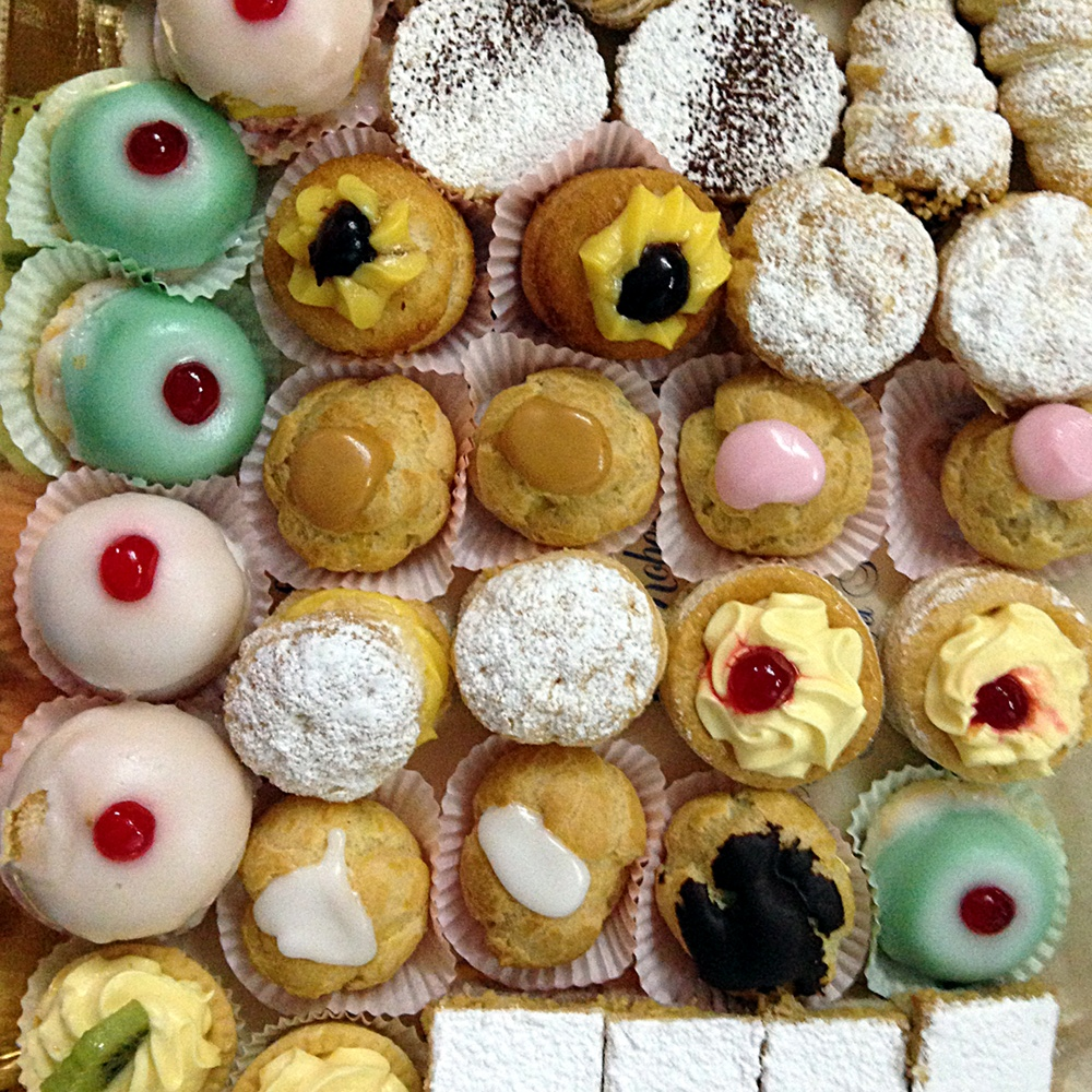 Pasticcini, Italian pastries, Ms. Adventures in Italy, by Sara Rosso
