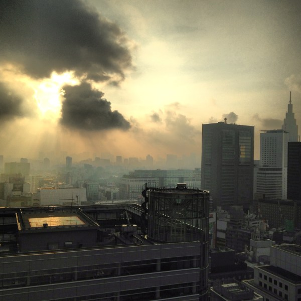 A spectacular sunrise in Tokyo, Japan, by Sara Rosso at Ms. Adventures in Italy