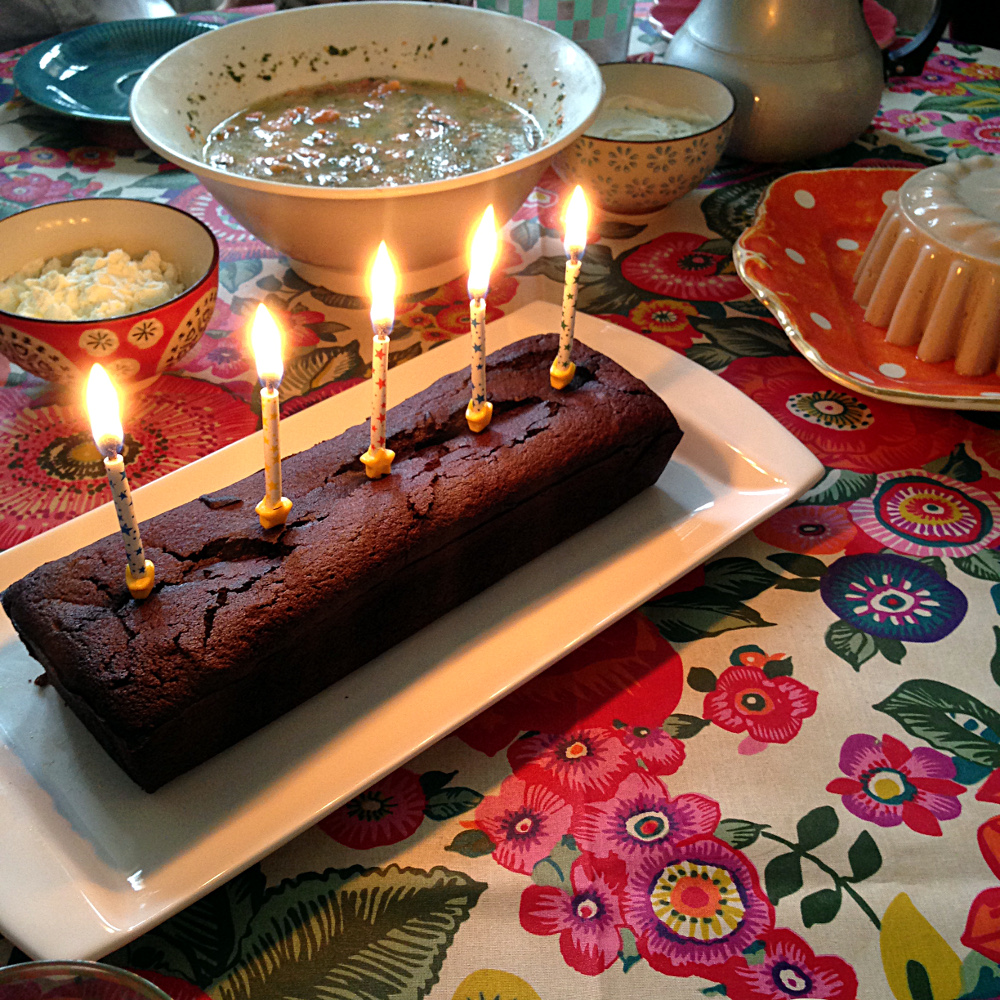 Dark Chocolate Fondant Birthday Cake, Ms. Adventures in Italy by Sara Rosso