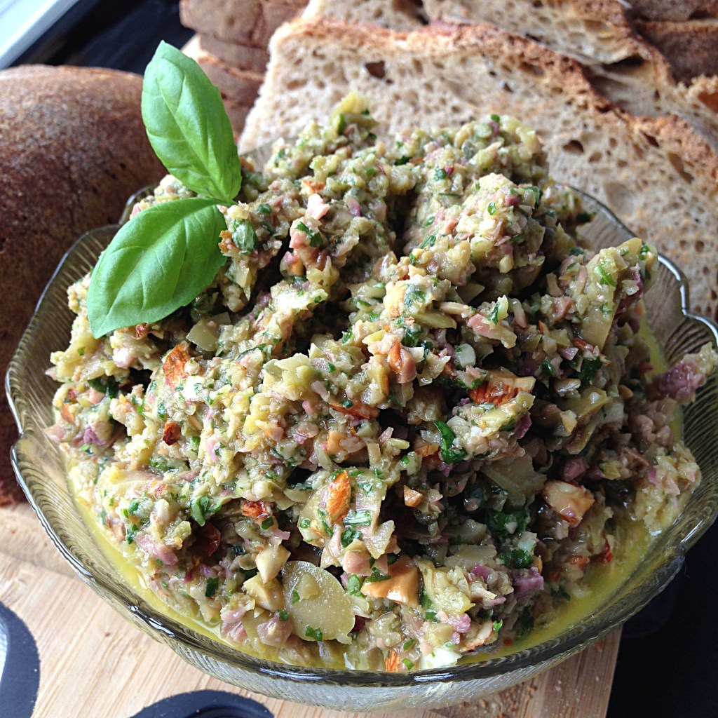 Green Olive Tapenade Recipe on Ms. Adventures in Italy, by Sara Rosso