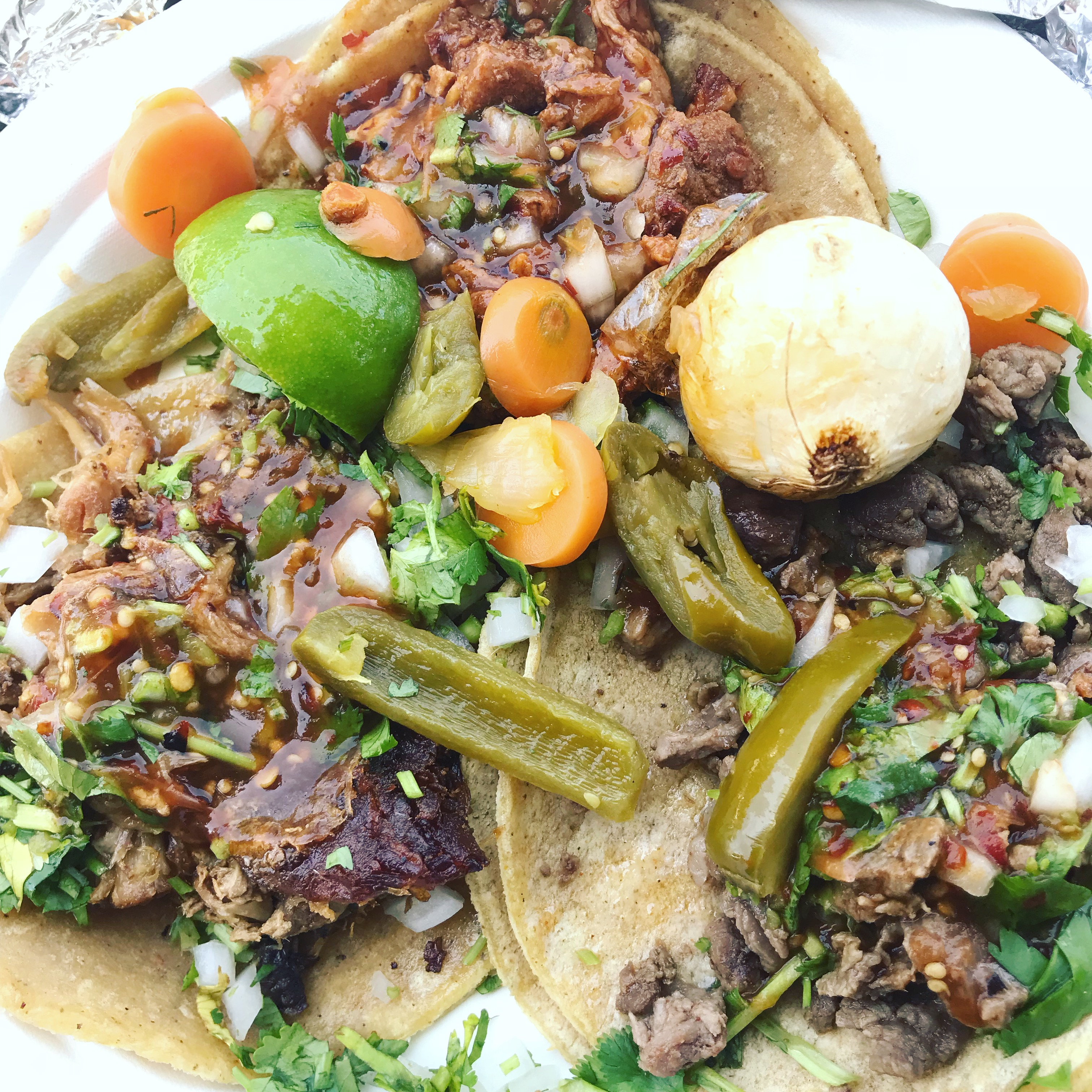 Parking lot tacos, Ms. Adventures in Italy, by Sara Rosso