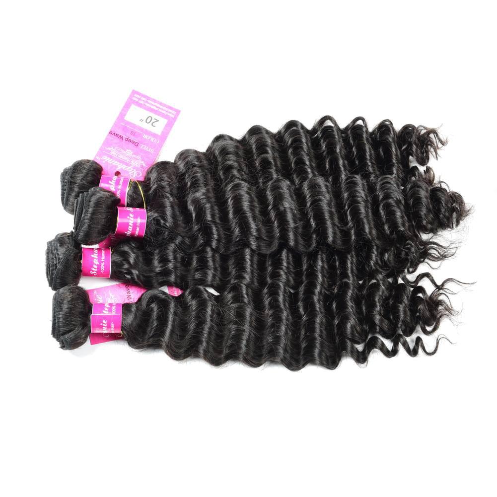 Deep Wave Human Hair Weave Bundles Deals 6