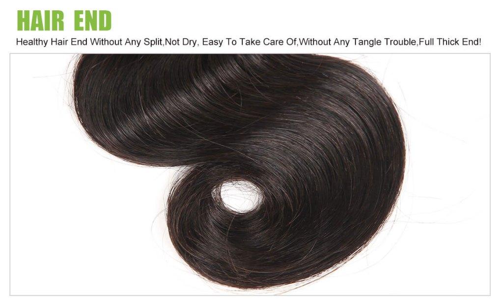 body wave hair end