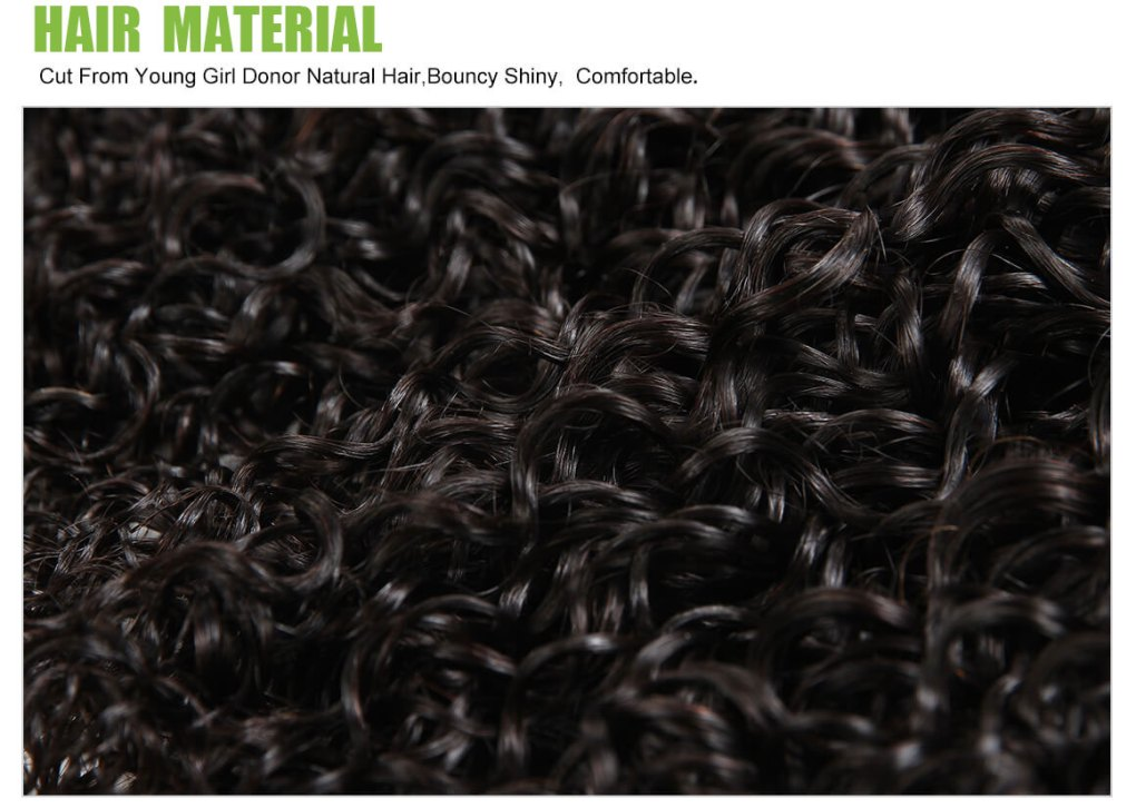 curly weave hair virgin human hair 4