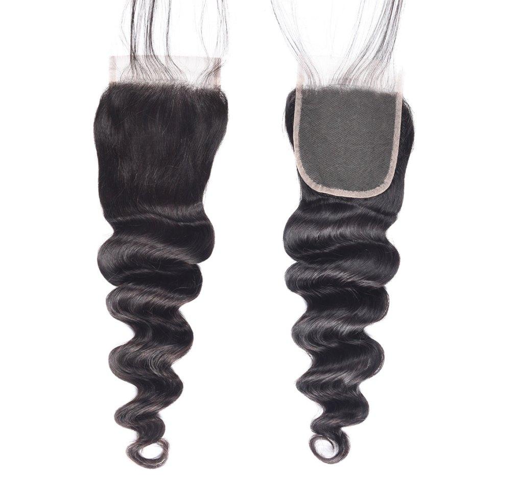 loose deep wave hair lace closure