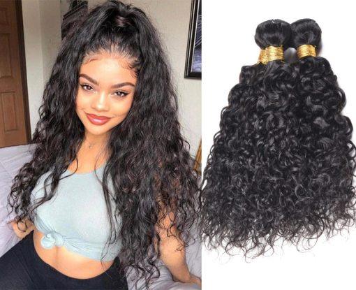 Brazilian Water Wave Hair Human Hair Weave Bundles Deals