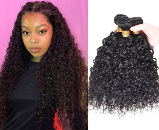 Peruvian Water Wave Hair Human Hair Weave Bundles Deals