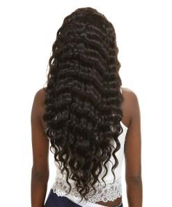 loose deep wave human hair bundles 4