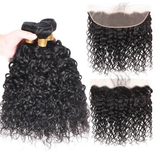 water wave hair with lace front