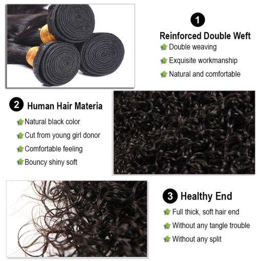 Curly Weave Virgin Human Hair Bundles 1