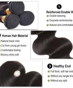 body wave human hair bundles
