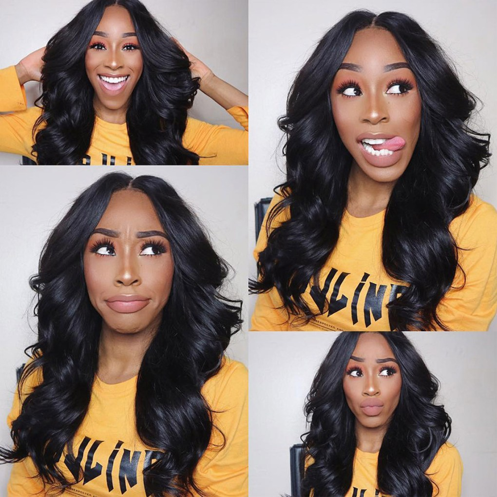 body wave human hair lace wig