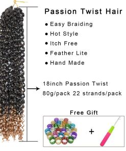 Passion Twist Hair Blonde Ombre Water Wave Crochet Hair