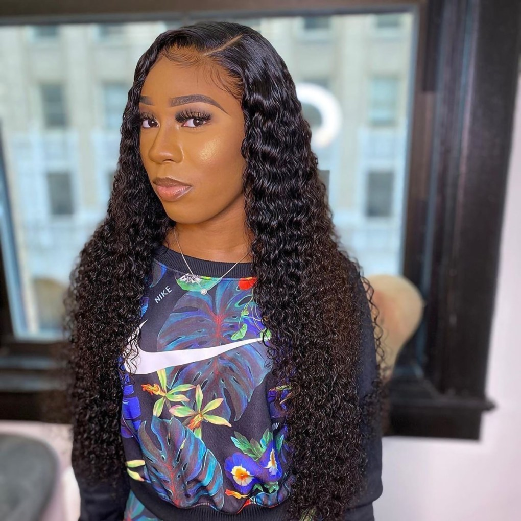 Water Wave Full Lace Wig PrePlucked with Baby Hair
