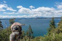 Devant les lacs de Bariloche (Argentine)
